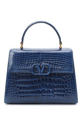 Женская сумка valentino garavani vsling из кожи аллигатора VALENTINO синего цвета, арт. UW2B0F15/XDE/AMIS | Фото 1