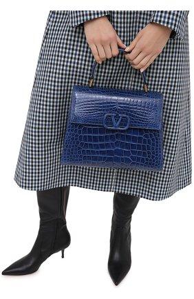 Женская сумка valentino garavani vsling из кожи аллигатора VALENTINO синего цвета, арт. UW2B0F15/XDE/AMIS | Фото 2
