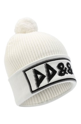 Женская кашемировая шапка DOLCE & GABBANA белого цвета, арт. FXA02T/JAW5V   Фото 1