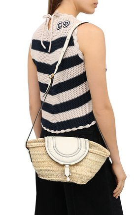 Женская сумка marcie CHLOÉ белого цвета, арт. CHC20US829C97   Фото 2