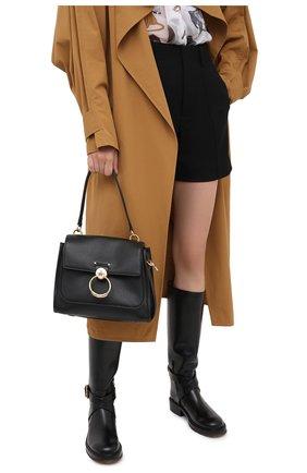 Женская сумка tess day small CHLOÉ черного цвета, арт. CHC20AS142C62   Фото 2