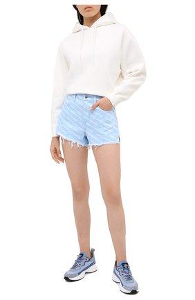 Женские комбинированные кроссовки shegoes VALENTINO голубого цвета, арт. UW2S0AB1/MUC | Фото 2