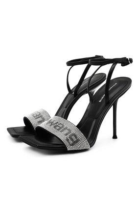 Женские кожаные босоножки julie ALEXANDER WANG черного цвета, арт. 30C220S034 | Фото 1