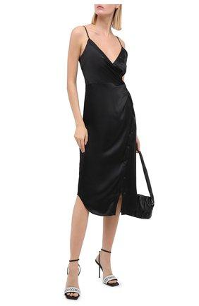 Женские кожаные босоножки julie ALEXANDER WANG черного цвета, арт. 30C220S034 | Фото 2