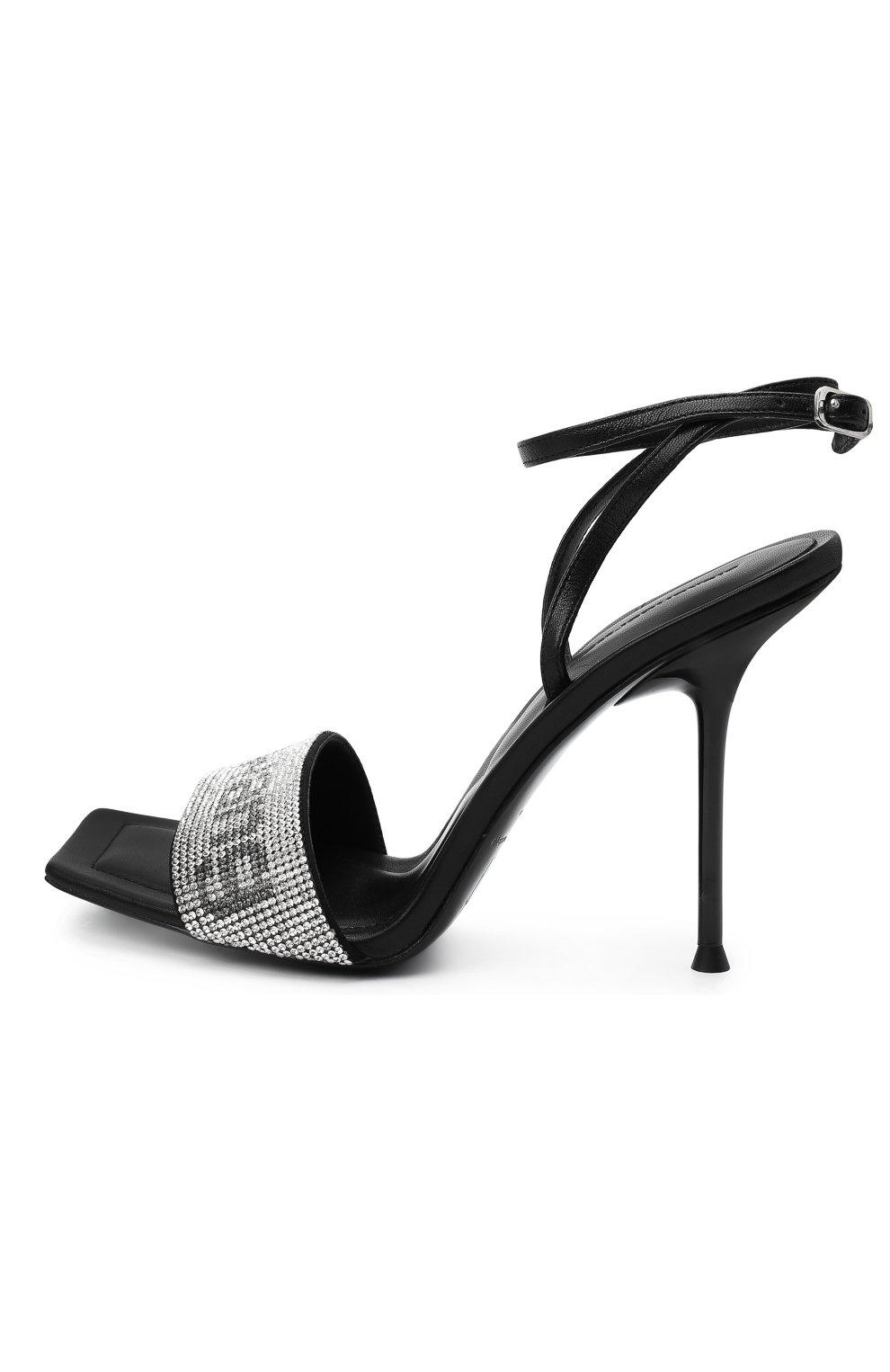 Женские кожаные босоножки julie ALEXANDER WANG черного цвета, арт. 30C220S034 | Фото 3