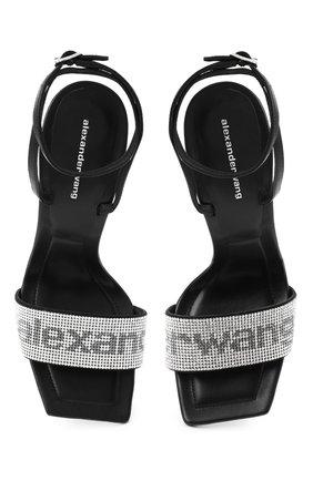 Женские кожаные босоножки julie ALEXANDER WANG черного цвета, арт. 30C220S034 | Фото 5