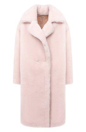 Женская шуба METEO YVES SALOMON светло-розового цвета, арт. 21WMM00104LATI | Фото 1