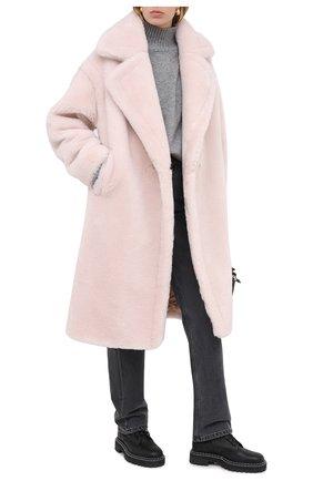 Женская шуба METEO YVES SALOMON светло-розового цвета, арт. 21WMM00104LATI | Фото 2