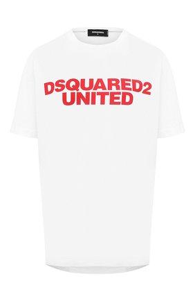 Женская хлопковая футболка DSQUARED2 белого цвета, арт. S75GD0109/S23009 | Фото 1