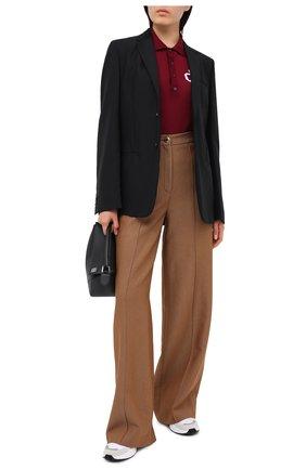 Женское шерстяное поло DSQUARED2 бордового цвета, арт. S75HA0971/S17404 | Фото 2