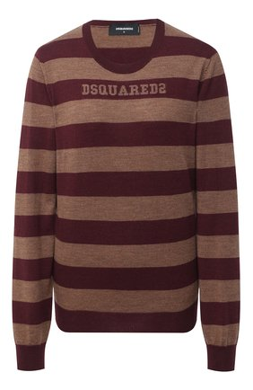 Женский шерстяной пуловер DSQUARED2 бордового цвета, арт. S75HA1009/S17415 | Фото 1