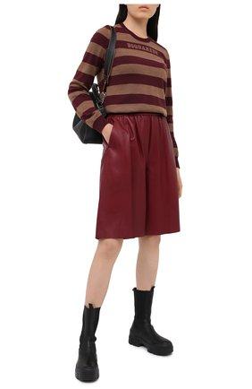 Женский шерстяной пуловер DSQUARED2 бордового цвета, арт. S75HA1009/S17415 | Фото 2