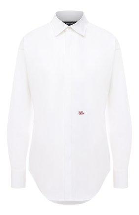 Женская хлопковая рубашка DSQUARED2 белого цвета, арт. S75DL0737/S35244 | Фото 1