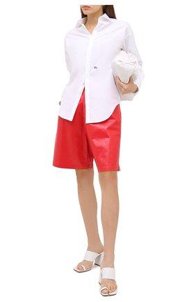 Женская хлопковая рубашка DSQUARED2 белого цвета, арт. S75DL0737/S35244 | Фото 2