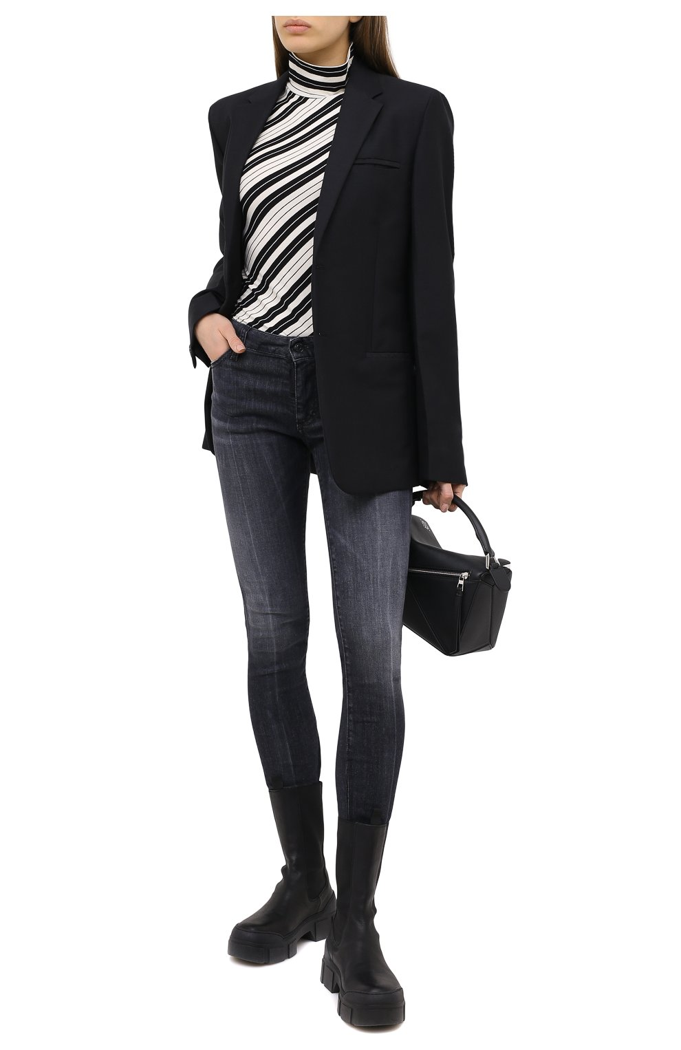 Женские джинсы DSQUARED2 черного цвета, арт. S75LB0381/S30503 | Фото 2