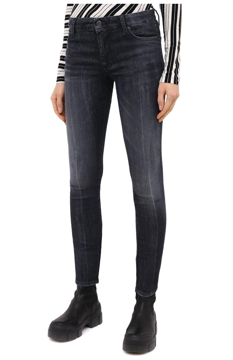 Женские джинсы DSQUARED2 черного цвета, арт. S75LB0381/S30503 | Фото 3