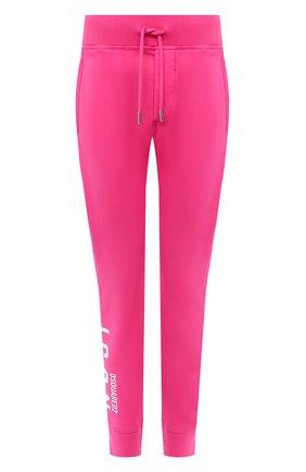 Женские хлопковые джоггеры DSQUARED2 розового цвета, арт. S80KA0002/S25042   Фото 1