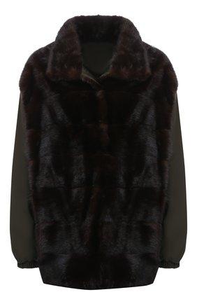Женская куртка с меховой отделкой SIMONETTA RAVIZZA коричневого цвета, арт. DAISY3/TV02B   Фото 1