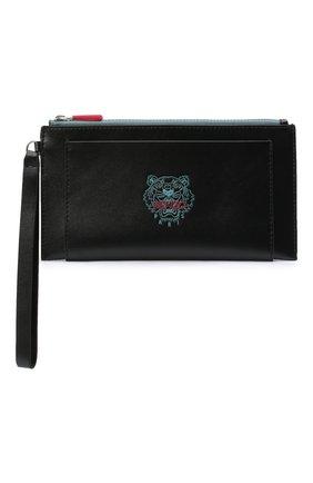 Женские кожаный кошелек KENZO черного цвета, арт. FA65PM311L48 | Фото 1