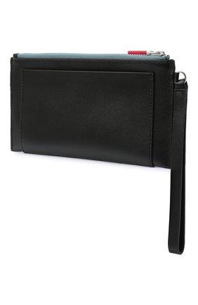 Женские кожаный кошелек KENZO черного цвета, арт. FA65PM311L48 | Фото 2