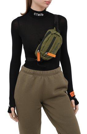 Женская поясная сумка HERON PRESTON хаки цвета, арт. HWNA008E20FAB0015555 | Фото 2