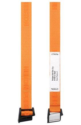Женский ремень HERON PRESTON оранжевого цвета, арт. HWRB005E20MAT0012200   Фото 2