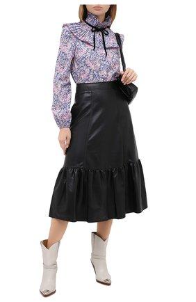 Женская хлопковая блузка PHILOSOPHY DI LORENZO SERAFINI голубого цвета, арт. J0221/5748   Фото 2