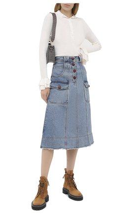 Женская джинсовая юбка PHILOSOPHY DI LORENZO SERAFINI голубого цвета, арт. J0101/5730 | Фото 2