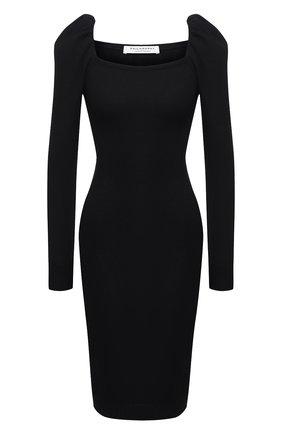 Женское платье из вискозы и шерсти PHILOSOPHY DI LORENZO SERAFINI черного цвета, арт. A0486/5701 | Фото 1