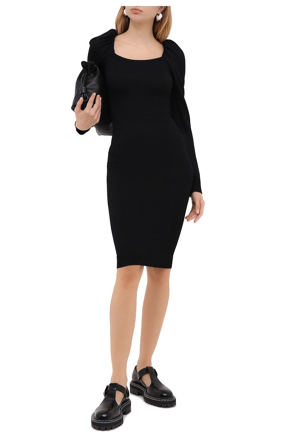 Женское платье из вискозы и шерсти PHILOSOPHY DI LORENZO SERAFINI черного цвета, арт. A0486/5701 | Фото 2