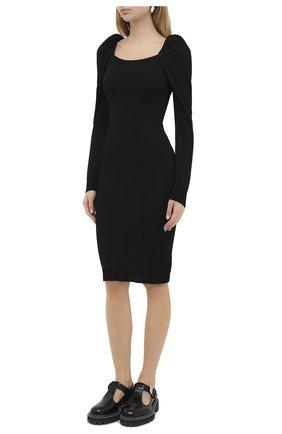 Женское платье из вискозы и шерсти PHILOSOPHY DI LORENZO SERAFINI черного цвета, арт. A0486/5701 | Фото 3