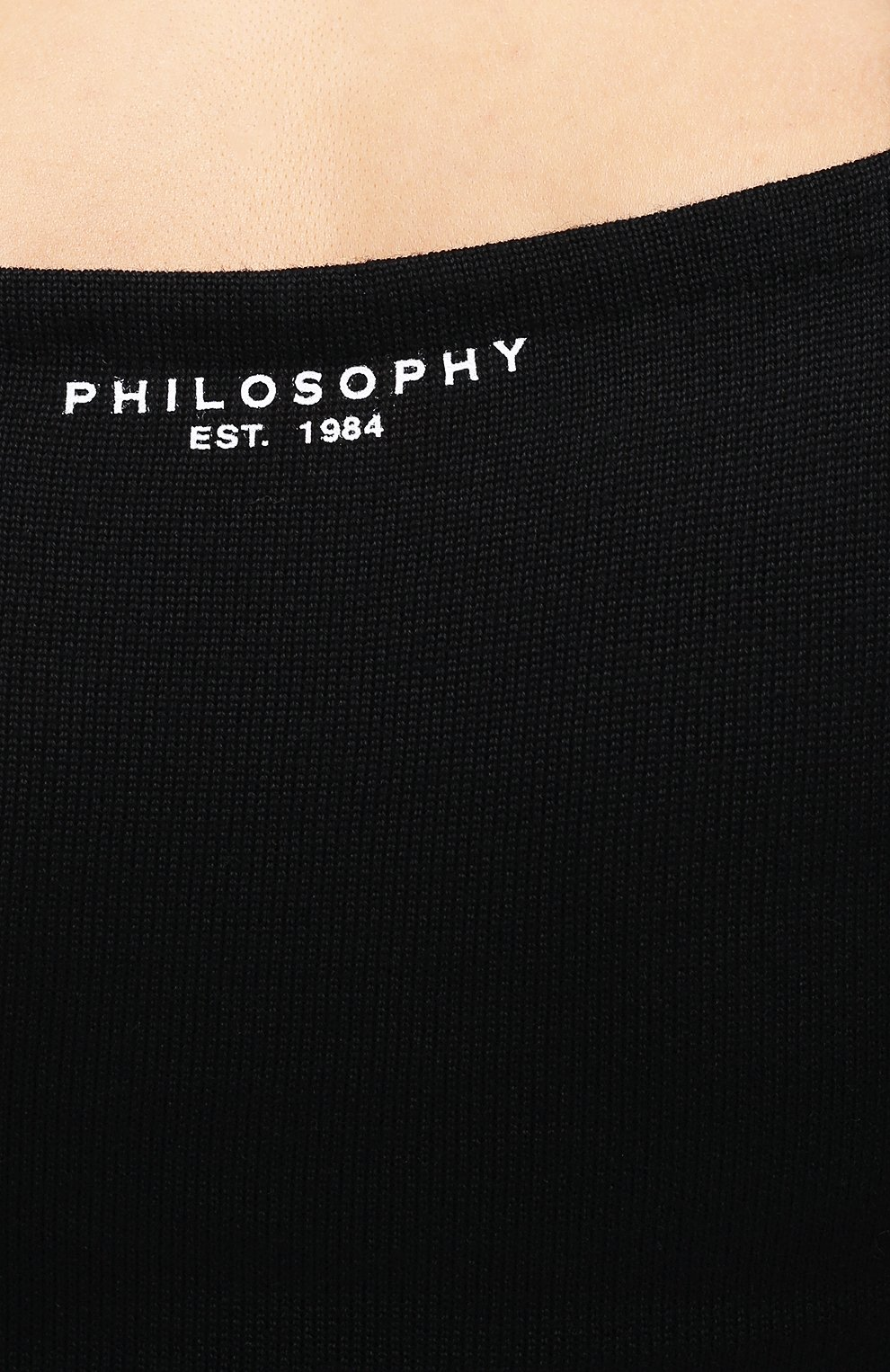 Женское платье из вискозы и шерсти PHILOSOPHY DI LORENZO SERAFINI черного цвета, арт. A0486/5701 | Фото 5