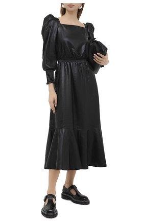 Женское платье-миди PHILOSOPHY DI LORENZO SERAFINI черного цвета, арт. A0414/5740 | Фото 2
