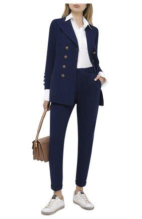 Женские брюки PHILOSOPHY DI LORENZO SERAFINI темно-синего цвета, арт. A0331/5753 | Фото 2