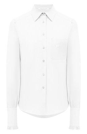 Женская хлопковая рубашка PHILOSOPHY DI LORENZO SERAFINI белого цвета, арт. A0220/5725   Фото 1