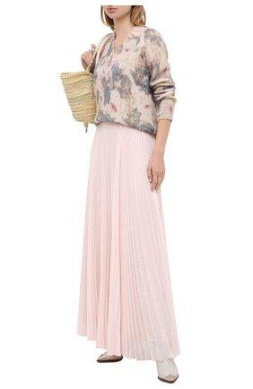 Женская юбка-макси PHILOSOPHY DI LORENZO SERAFINI розового цвета, арт. A0108/5724 | Фото 2