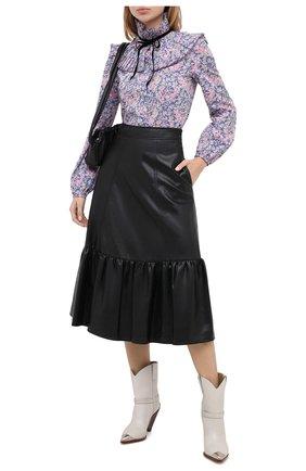 Женская юбка PHILOSOPHY DI LORENZO SERAFINI черного цвета, арт. A0102/5740 | Фото 2