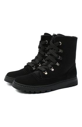 Детские замшевые ботинки DOLCE & GABBANA черного цвета, арт. DA0744/AW750/37-39 | Фото 1