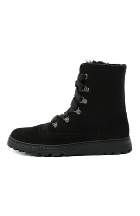 Детские замшевые ботинки DOLCE & GABBANA черного цвета, арт. DA0744/AW750/37-39 | Фото 2