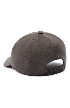 Мужской кашемировая бейсболка LORO PIANA коричневого цвета, арт. FAF8520 | Фото 2