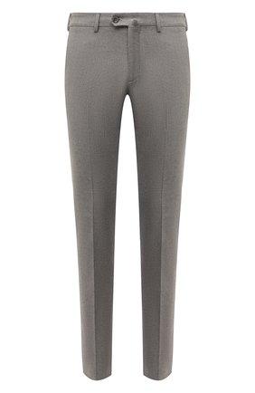 Мужской хлопковые брюки LORO PIANA серого цвета, арт. FAF4206 | Фото 1