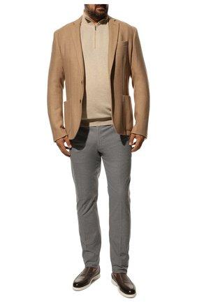 Мужской хлопковые брюки LORO PIANA серого цвета, арт. FAF4206 | Фото 2