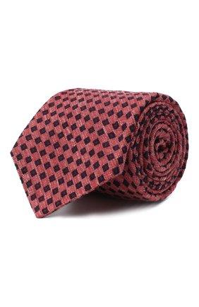 Мужской галстук из шерсти и шелка KITON красного цвета, арт. UCRVKLC05G50 | Фото 1