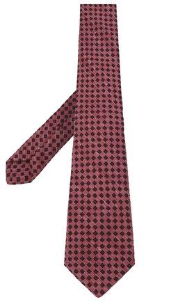 Мужской галстук из шерсти и шелка KITON красного цвета, арт. UCRVKLC05G50 | Фото 2