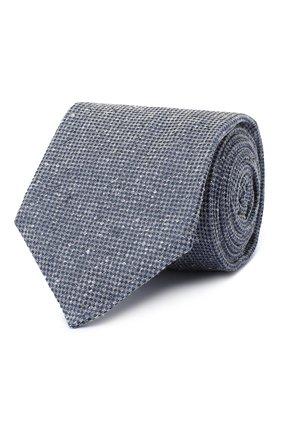 Мужской шелковый галстук KITON синего цвета, арт. UCRVKLC04G95 | Фото 1