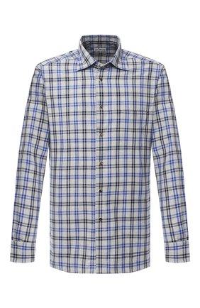 Мужская хлопковая рубашка KITON серого цвета, арт. UMCNERHH0748501   Фото 1