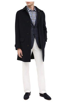 Мужская хлопковая рубашка KITON серого цвета, арт. UMCNERHH0748501   Фото 2