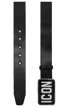 Мужской кожаный ремень DSQUARED2 черного цвета, арт. BEM0010 12900001 | Фото 2