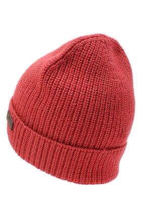 Мужская шапка из шерсти и шелка BRIONI красного цвета, арт. 04M80L/09K32 | Фото 2