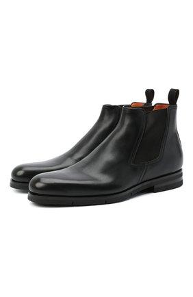Мужские кожаные челси SANTONI черного цвета, арт. MCAZ16456SI5EKYBN01 | Фото 1